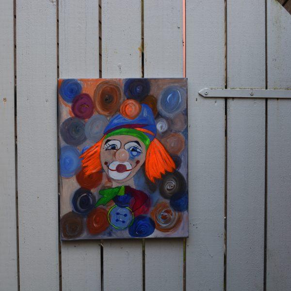 40-x-50-akryl-paa-lerret-tittel-klovn-pris-1500-nok